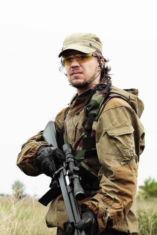 Militaire mens royalty-vrije stock afbeelding