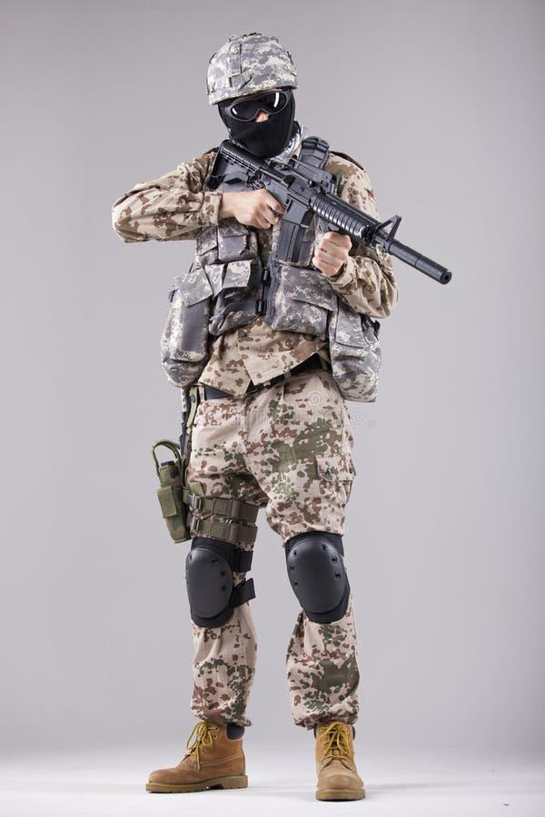 Militaire mens royalty-vrije stock foto