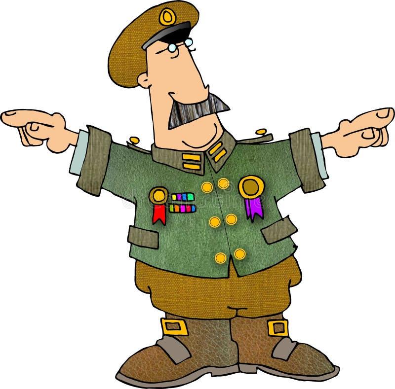 Militaire Mens royalty-vrije illustratie