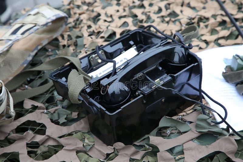 Militaire middelen van mededeling stock fotografie