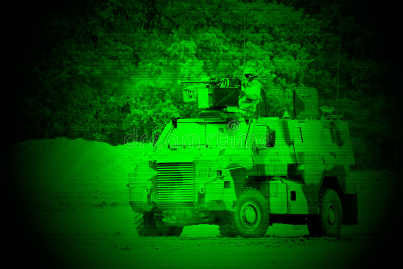 Militaire nachtvisie stock afbeelding