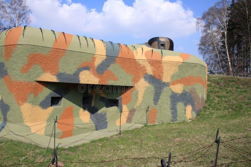 Militaire oorlogsbunker stock afbeelding
