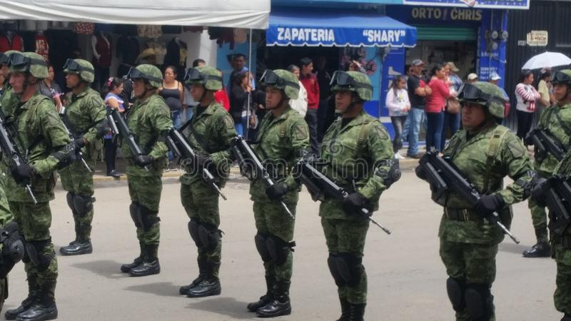 Militaire Parade Mexico royalty-vrije stock foto