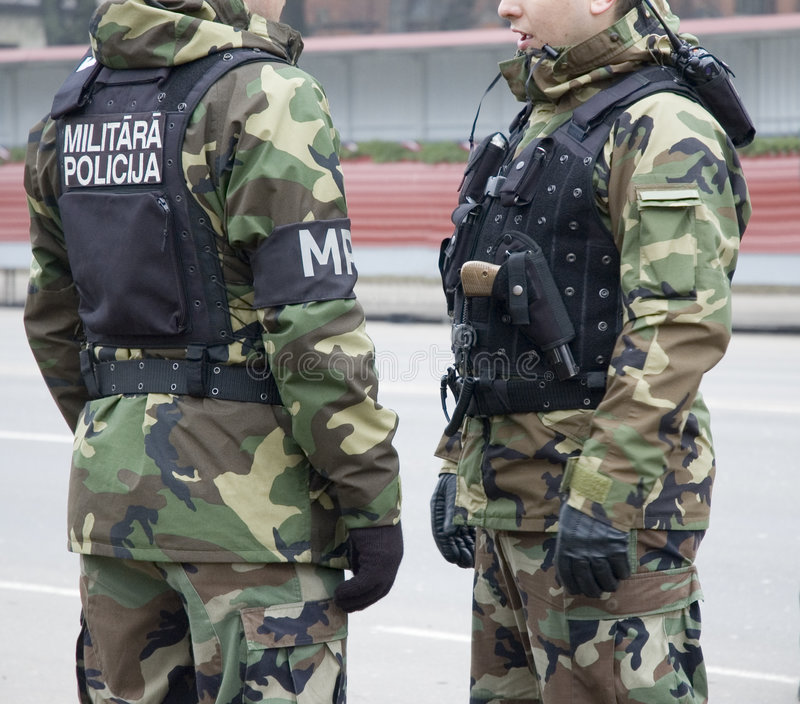 Militaire politie royalty-vrije stock foto