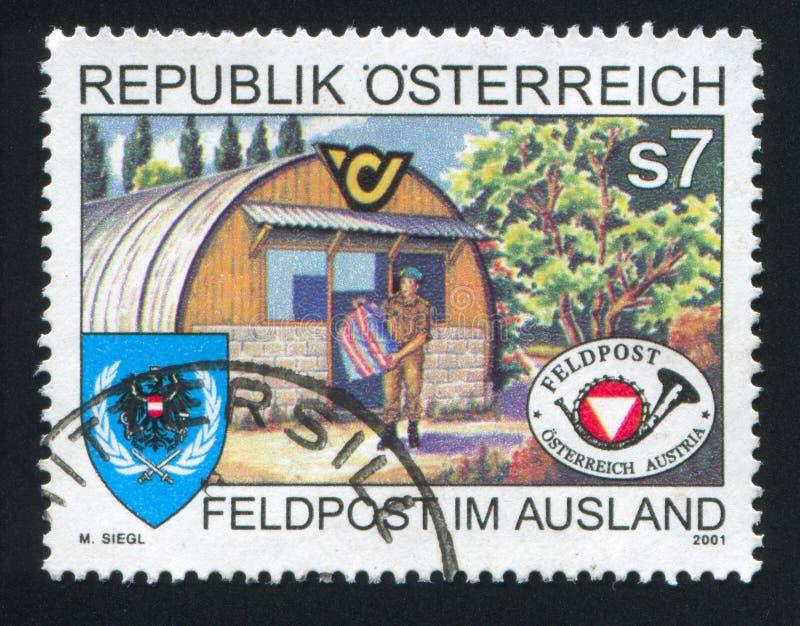 Militaire Postkantoren in het buitenland stock foto