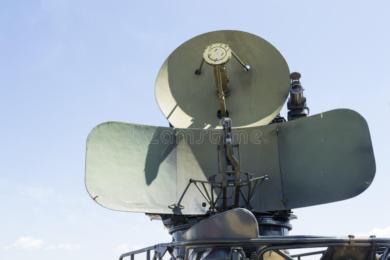 Militaire radar van koude oorlogera royalty-vrije stock foto