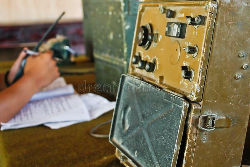Militaire radiocontrolekamer (1) stock foto's