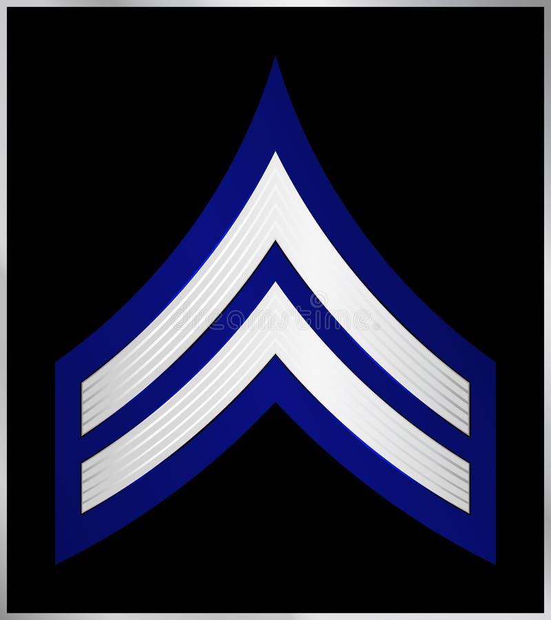 Militaire Rangen en Insignes Strepen en Chevrons van Leger royalty-vrije illustratie