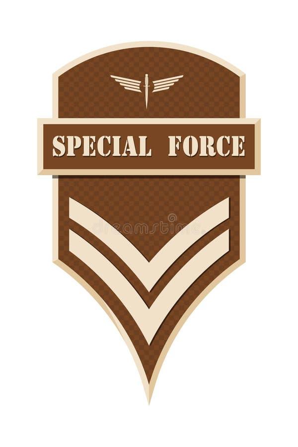 Militaire Rangen en Insignes Strepen en Chevrons van Leger stock illustratie