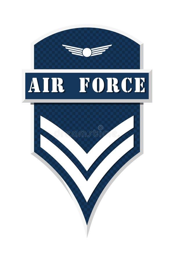 Militaire Rangen en Insignes Strepen en Chevrons van Leger vector illustratie