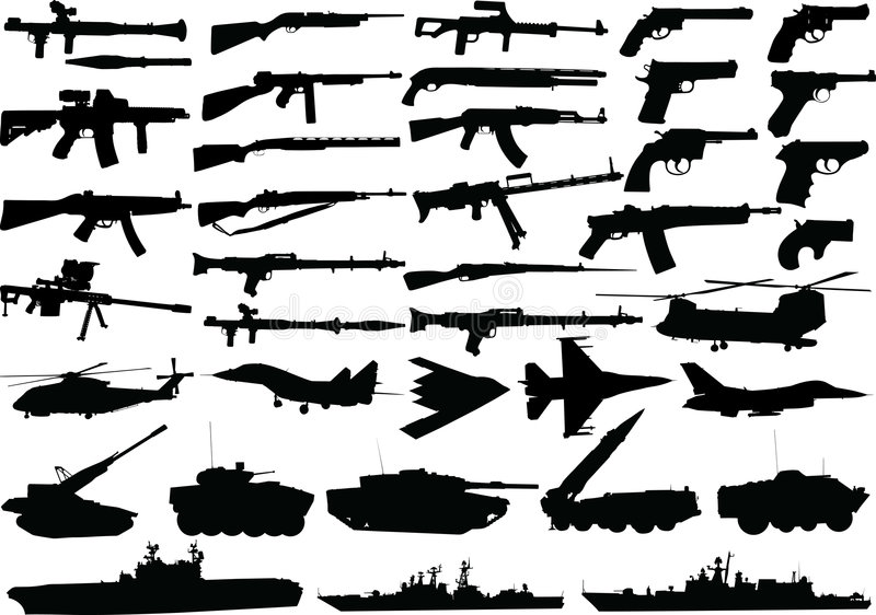 Militaire reeks royalty-vrije illustratie