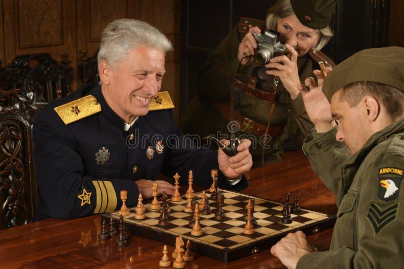 Militaire rijpe algemeen stock foto