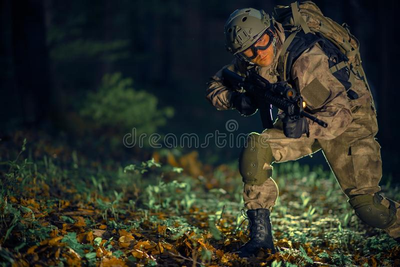 Militaire Specifieke actie stock fotografie