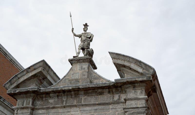Militaire sterkte van Roman centurion stock afbeeldingen