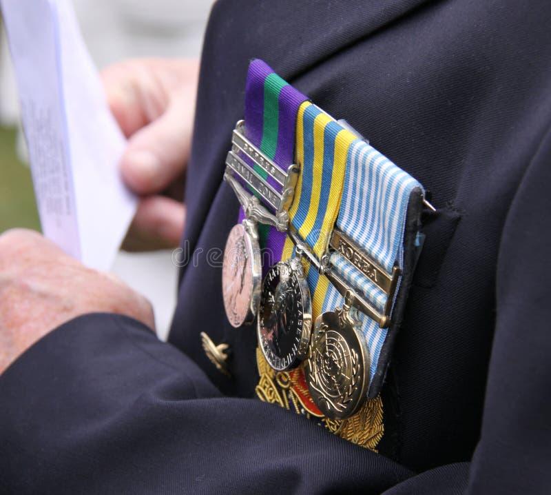Militaire toekenningsmedailles stock afbeelding
