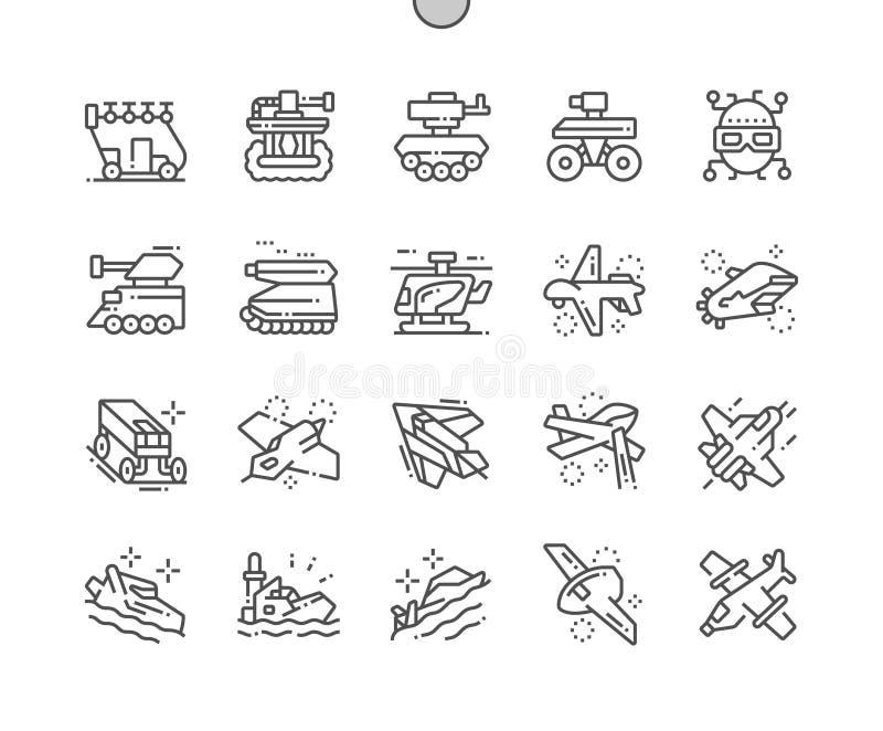 Militaire uitrusting van de goed-Bewerkte toekomst stock illustratie