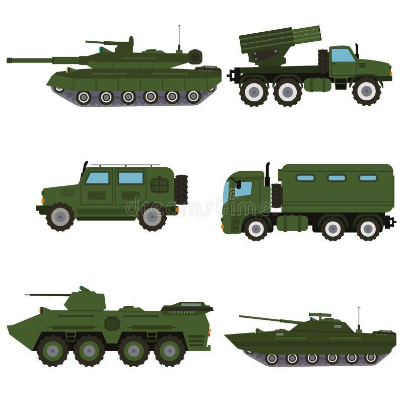 Militaire van de het legeroorlog van het voertuigmateriaal het wapenmachine stock foto's
