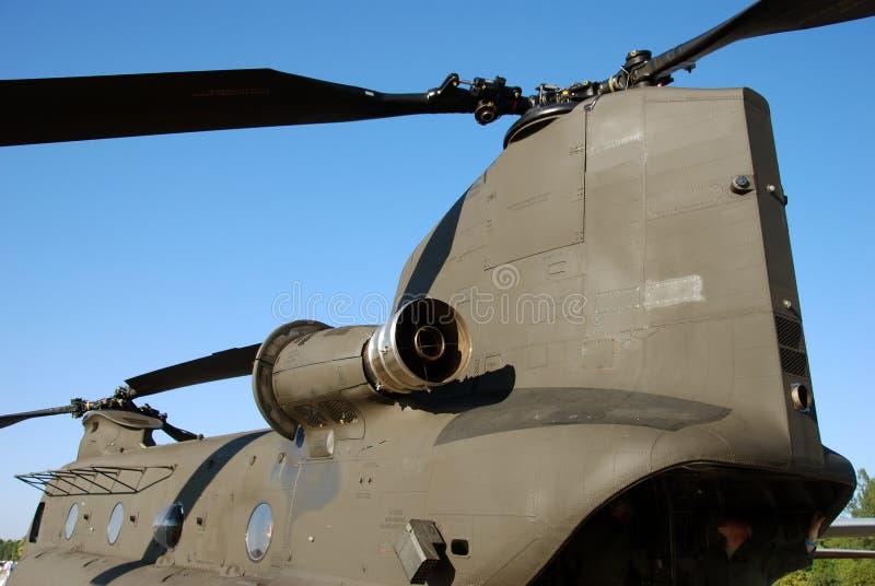 Militaire vervoerhelikopter stock foto