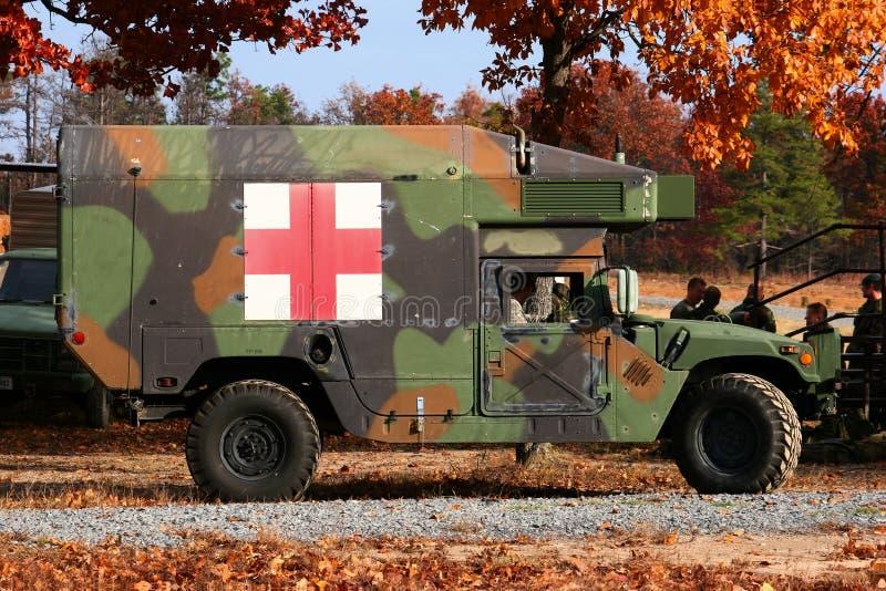 Militaire Ziekenwagen stock foto's