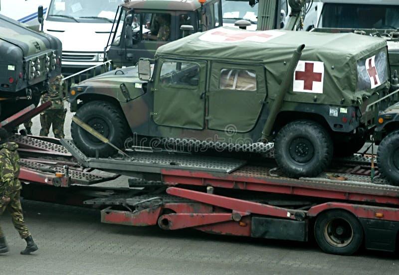 Militaire ziekenwagen royalty-vrije stock afbeelding