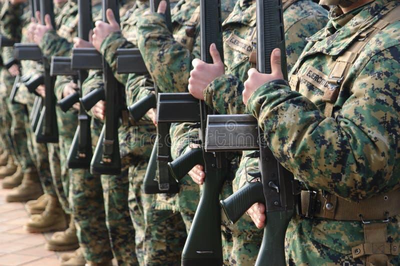Militairen royalty-vrije stock afbeelding