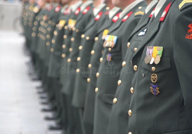Militairen bij een Ceremonie stock afbeeldingen