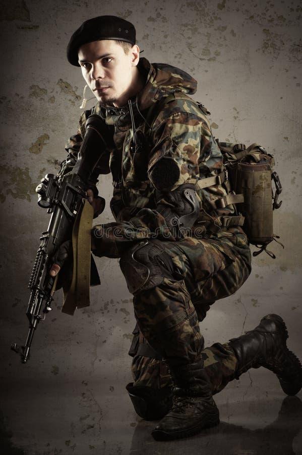 Militairen in eenvormig royalty-vrije stock afbeeldingen