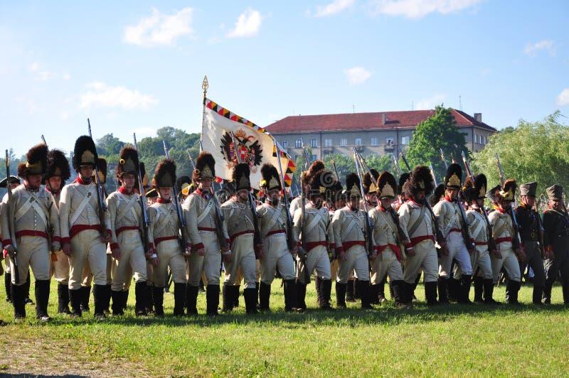 Militairen maart royalty-vrije stock foto's