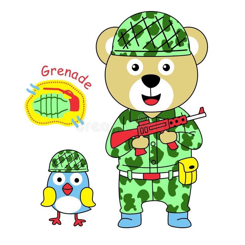 Militairenvector stock illustratie