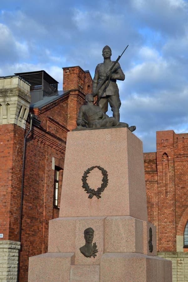 Militairmonument in Tallinn royalty-vrije stock afbeeldingen