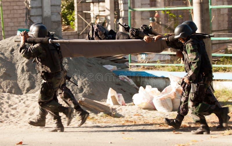 Militairredder stock afbeelding