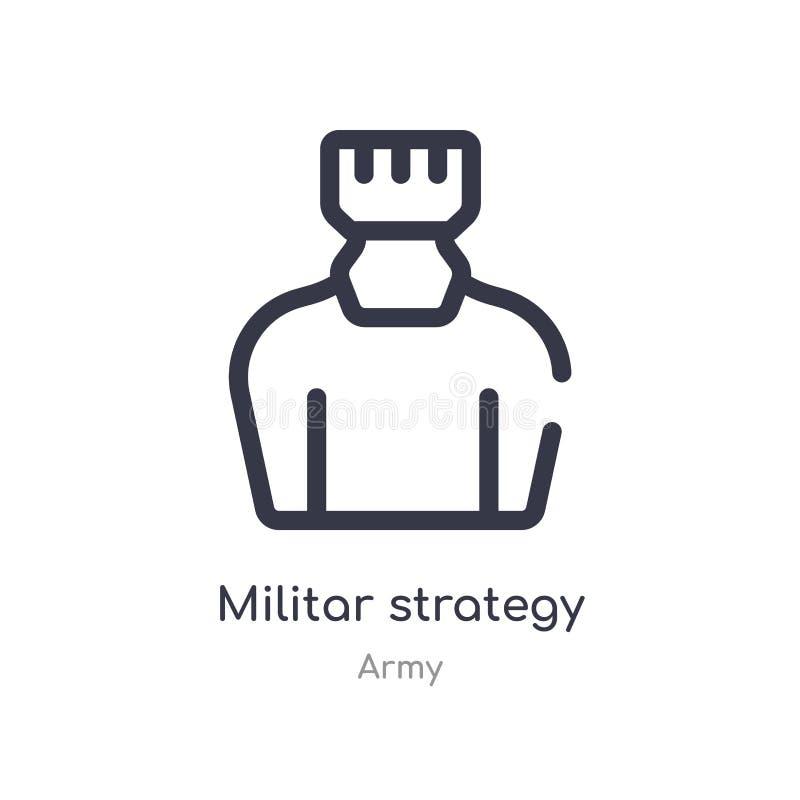 militar значок плана стратегии изолированная линия иллюстрация вектора от собрания армии значок стратегии editable тонкого хода m бесплатная иллюстрация