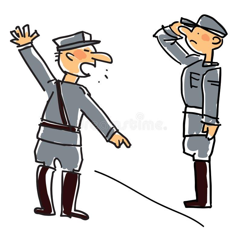 Militar ilustração stock