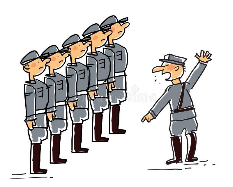Militar ilustração do vetor