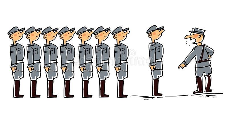 Militar ilustração royalty free