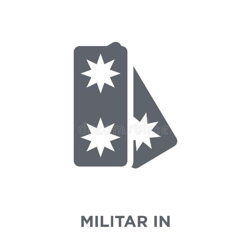Militar gradbeteckningsymbol från armésamling vektor illustrationer