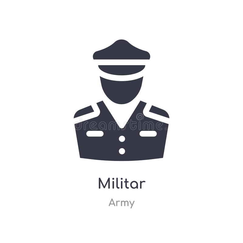 militar icon. isolated militar icon vector illustration from army collection. editable sing symbol can be use for web site and royalty free illustration