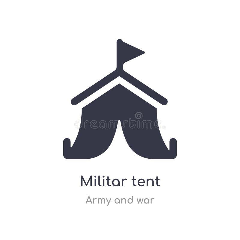 Militar namiotu ikona odosobnionej militar namiotowej ikony wektorowa ilustracja od wojska i wojny kolekcji r royalty ilustracja