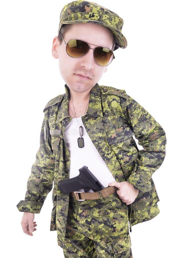 Militar principal grande foto de archivo