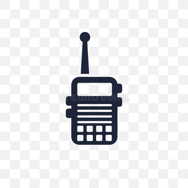 Militar Radio transparant pictogram Ontwerp van het Militar het Radiosymbool van royalty-vrije illustratie