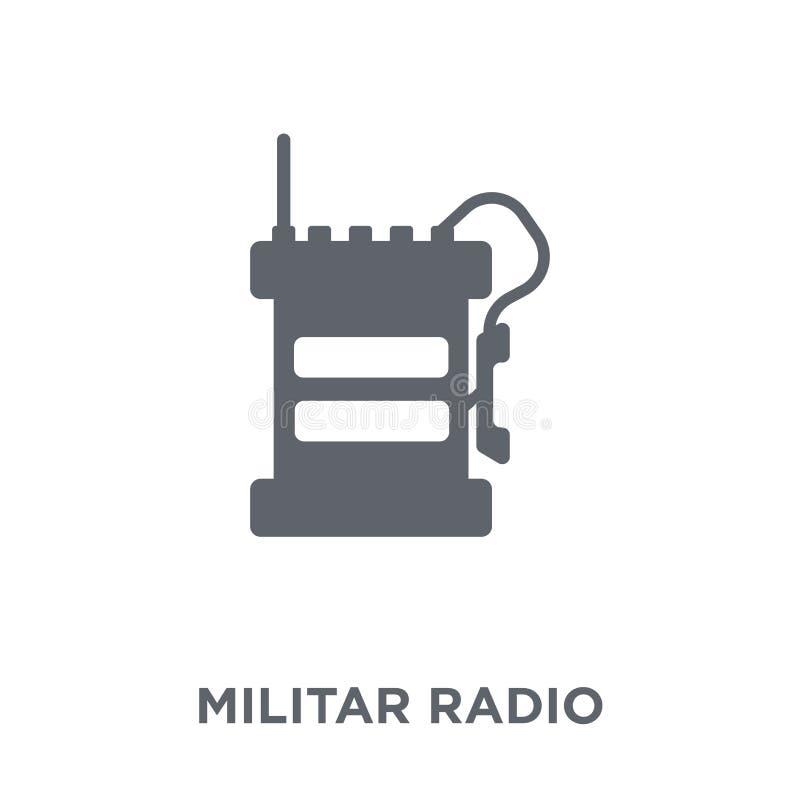 Militar Radiopictogram van Legerinzameling vector illustratie