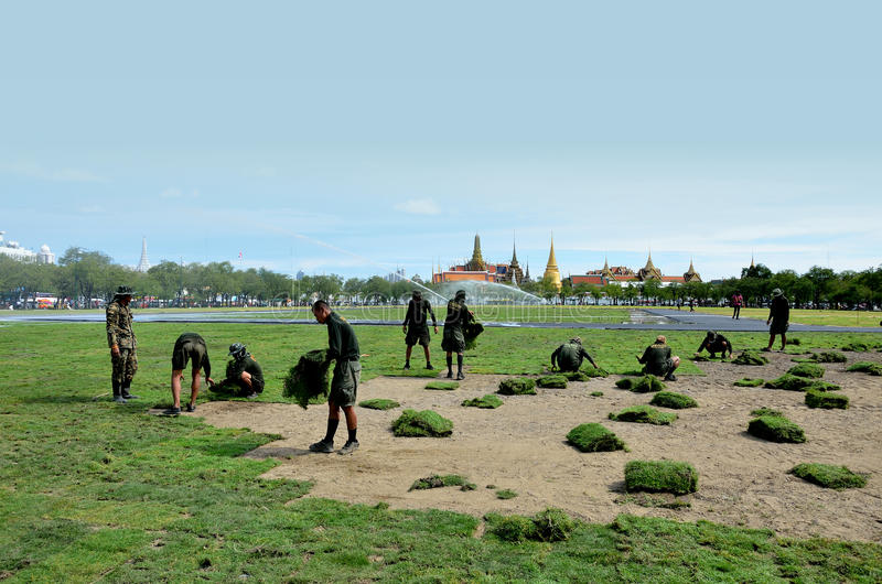 Download Militar Renovate The Royal Field (Sanam Luang) Editorial Stock Image - Image: 26301174