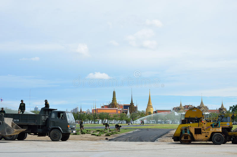 Download Militar Renovate The Royal Field (Sanam Luang) Editorial Photography - Image: 26301222