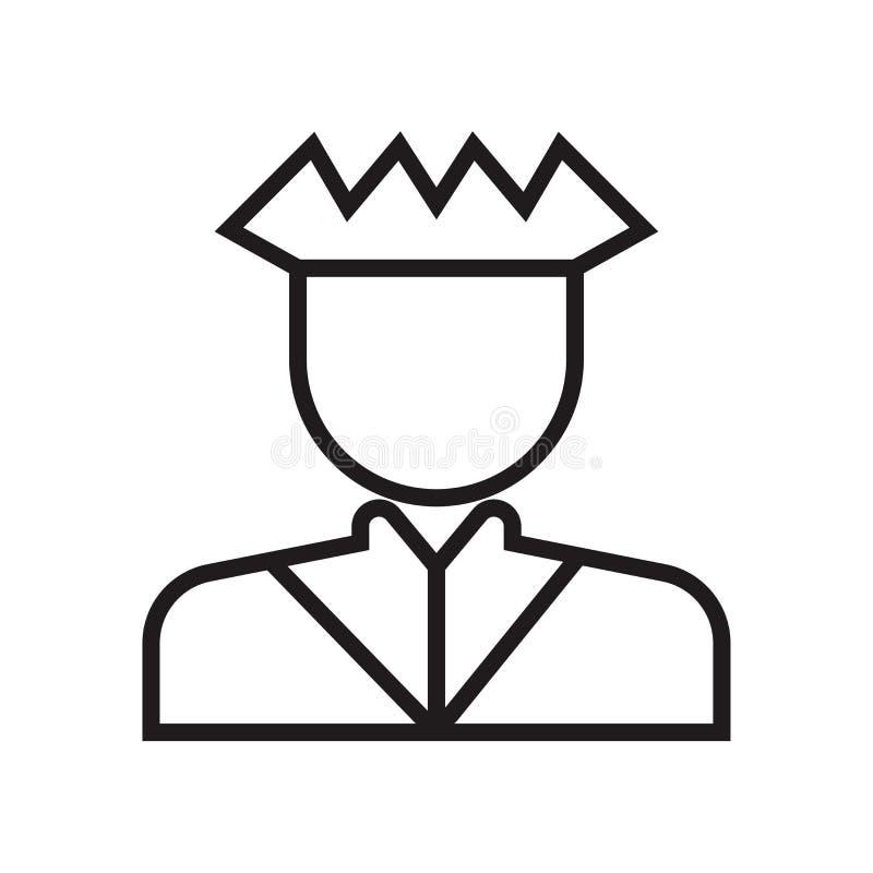 Militar strategii symbol osoby ikony wektoru znak i symbol odizolowywający na białym tle, Militar strategii osoba symbol ilustracja wektor