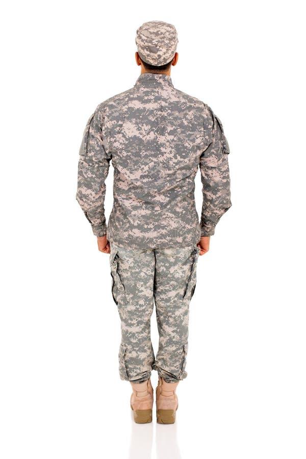 Militar trasero de la visión fotos de archivo