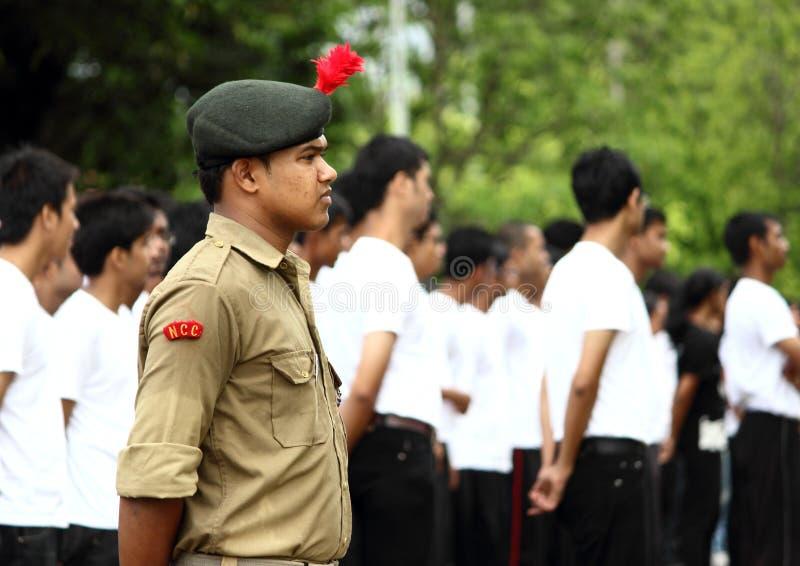 Militare indiano di NCC in uniforme fotografia stock