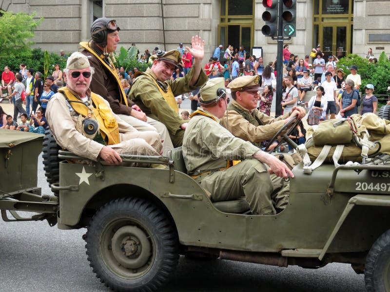 Militares de la Segunda Guerra Mundial imagen de archivo libre de regalías