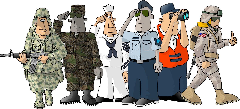 Militares de los E.E.U.U. libre illustration