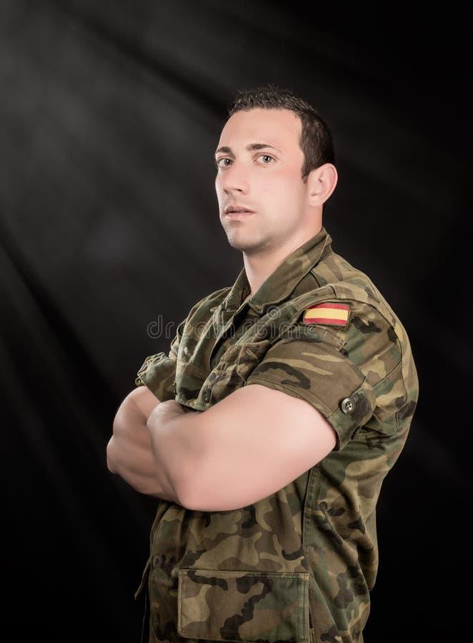 Militares españoles fotografía de archivo