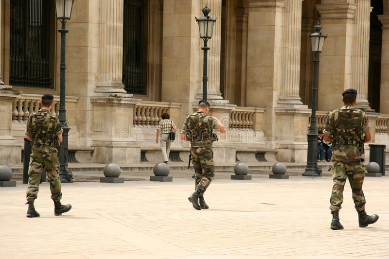 Militares franceses imágenes de archivo libres de regalías